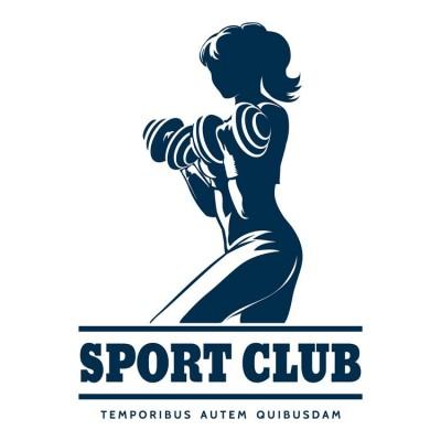 Sporcu Kadın Sport Club Salonu Duvar Kağıdı